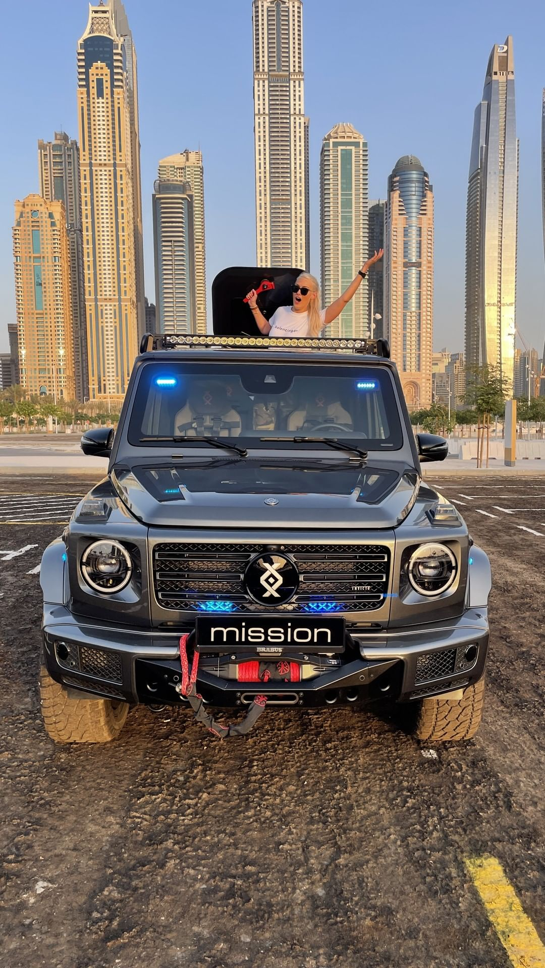 This blast-proof G-wagon has an escape hatch and oxygen tank! @theoffi – Alexandra Mary – supercar blondie