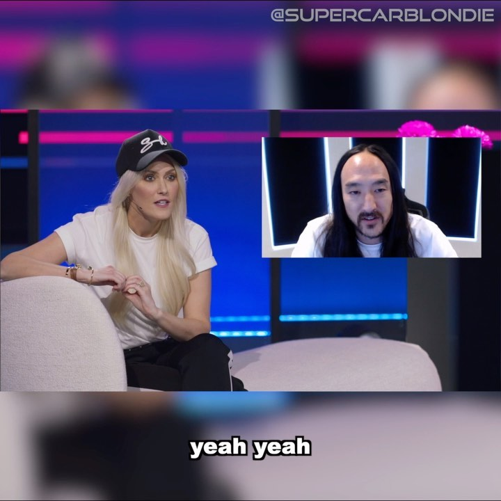 Chatting with @steveaoki on the first episode of my new show! The link – Alexandra Mary – supercar blondie 📰