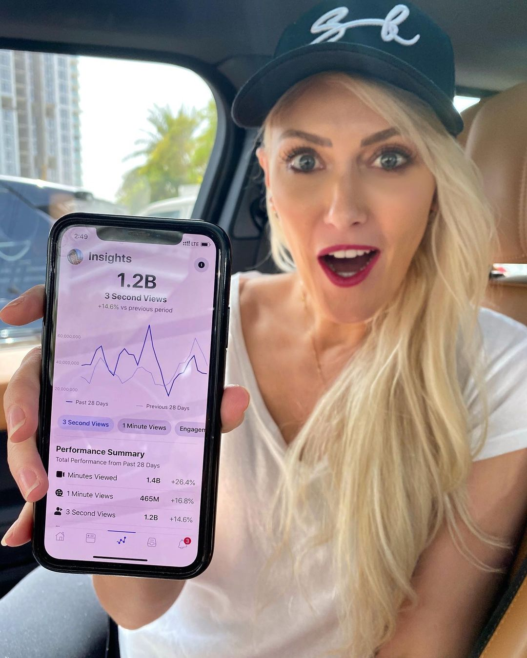 How crazy is that!?!  My Facebook channel gets over 1 Billion views ev – Alexandra Mary – supercar blondie 📰
