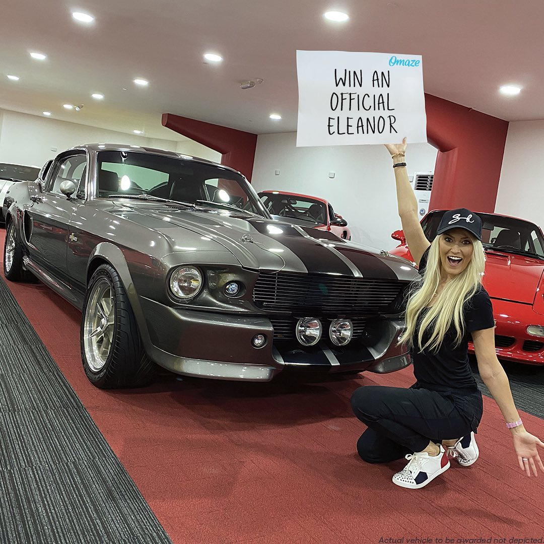 """WIN an officially licensed 1967 Ford Mustang """"Eleanor""""  Omaze is givi – Alexandra Mary – supercar blondie 📰"""